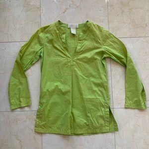 Michael Kors Lime Green Coverup Blouse Sz Small
